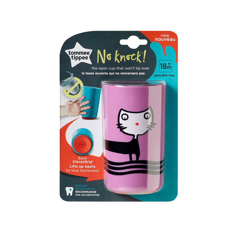 Tommee Tippee No Knock Toddler Cup 10oz, 18m+, 1-Pack - Cat