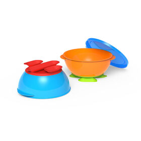 Bols à 3 ventouses de First Essentials par NUK™, assortiment de couleurs, paquet de 2.