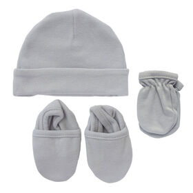 Koala Baby 3-Pack Set - Hat, Mittens, Booties - Grey