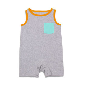 Snugabye Sleeveless Romper - Solid - Grey, 12-18 Months