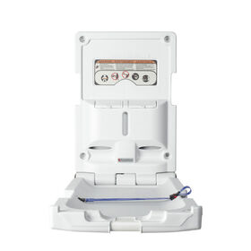 Foundations Vertical Surface Mount Baby Changing Station (EZ Mount Backer Plate Included)