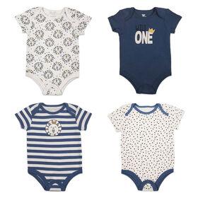 Koala Baby 4-Pack Bodysuit - Blue, Preemie