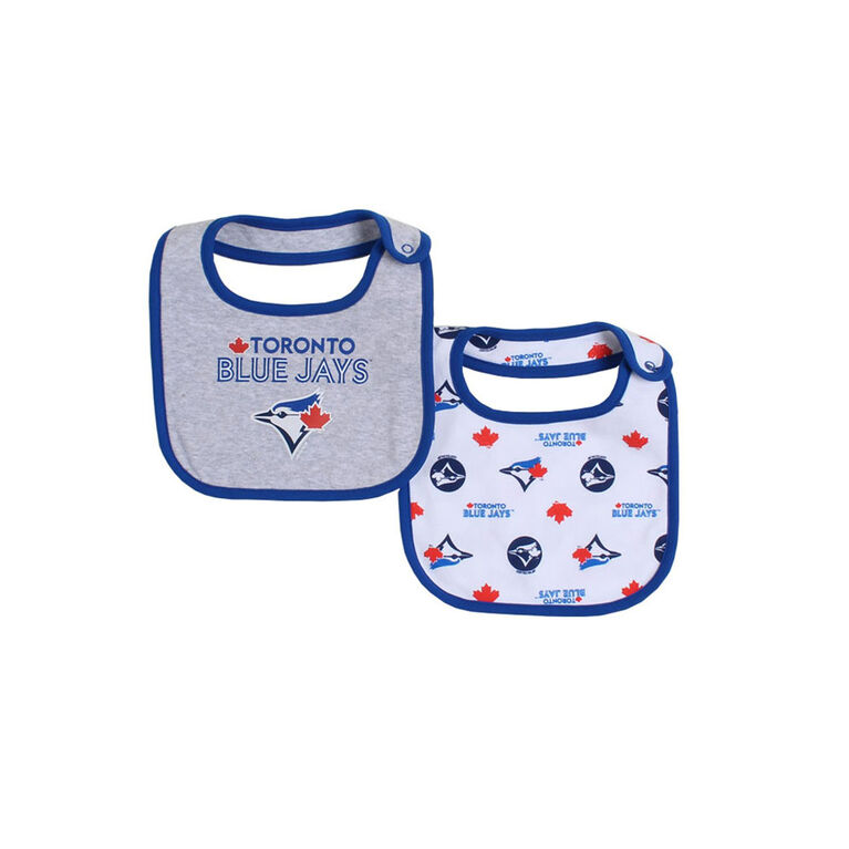 Snugabye Toronto Blue Jays Infant 2 Piece Dribble Bibs