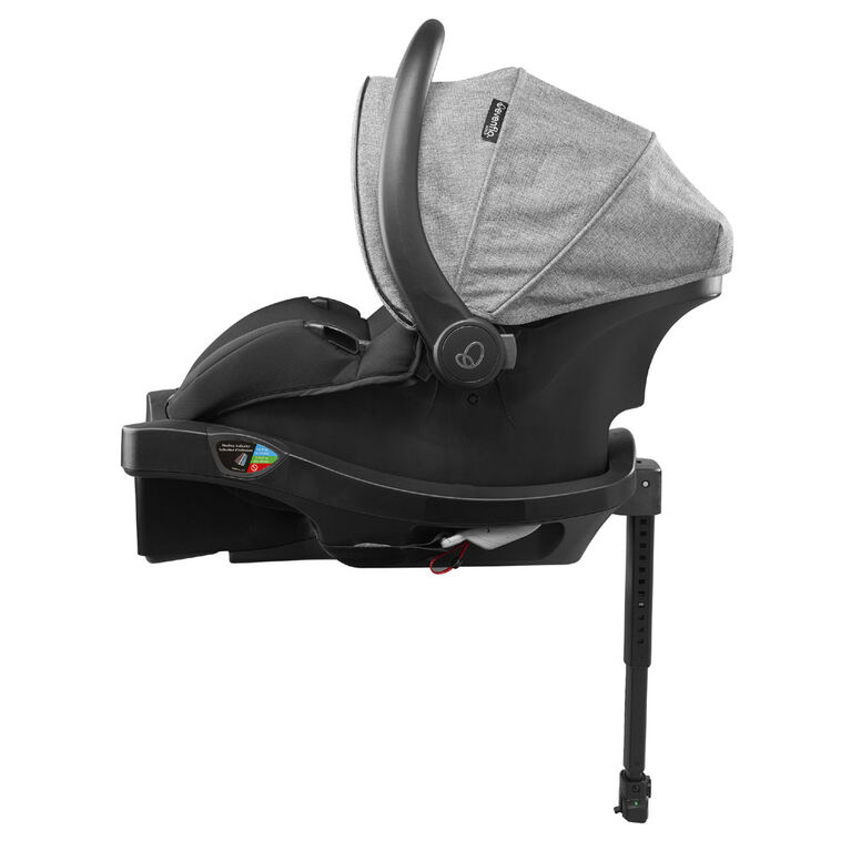Siège d'auto pour bébés Evenflo GOLD SensorSafe LiteMax DLX avec patte de chargement SafeZone, Pierre de lune - Notre exclusivité
