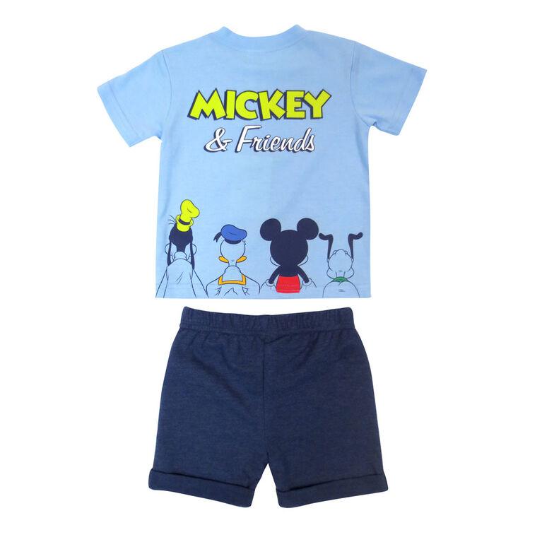 Disney Mickey Mouse 2-Piece Short Set - Blue, 9 Months