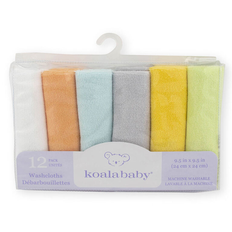 Koala Baby 12-Pack Washcloth, Variety