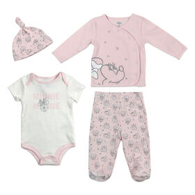 Disney's Minnie Mouse 4PC Take me Home Set - Pink, 9 Months