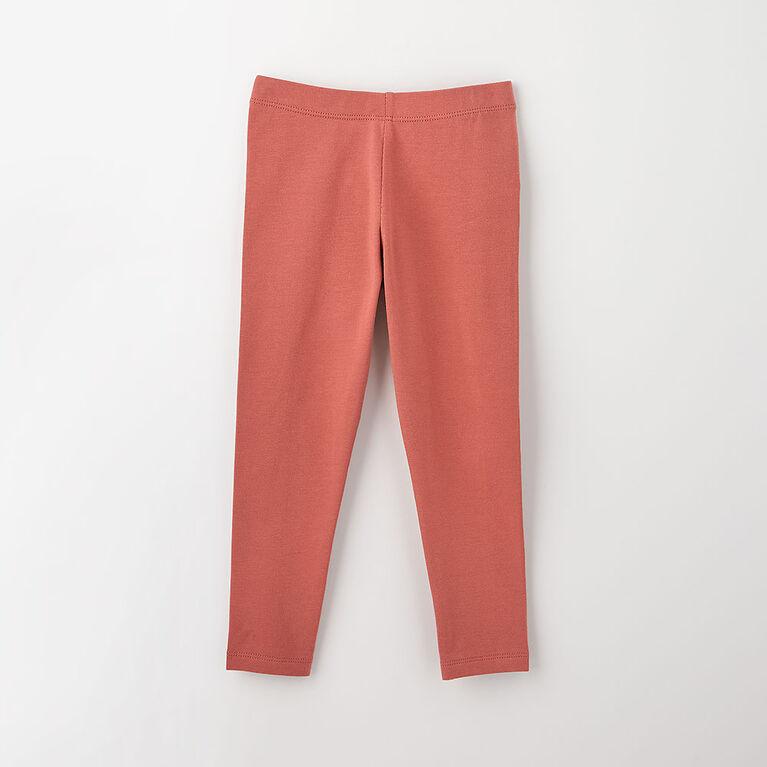 12-18m legging en coton biologique - rose
