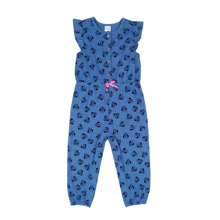 Disney Minnie Mouse 1 piece Romper - Blue, 18 months