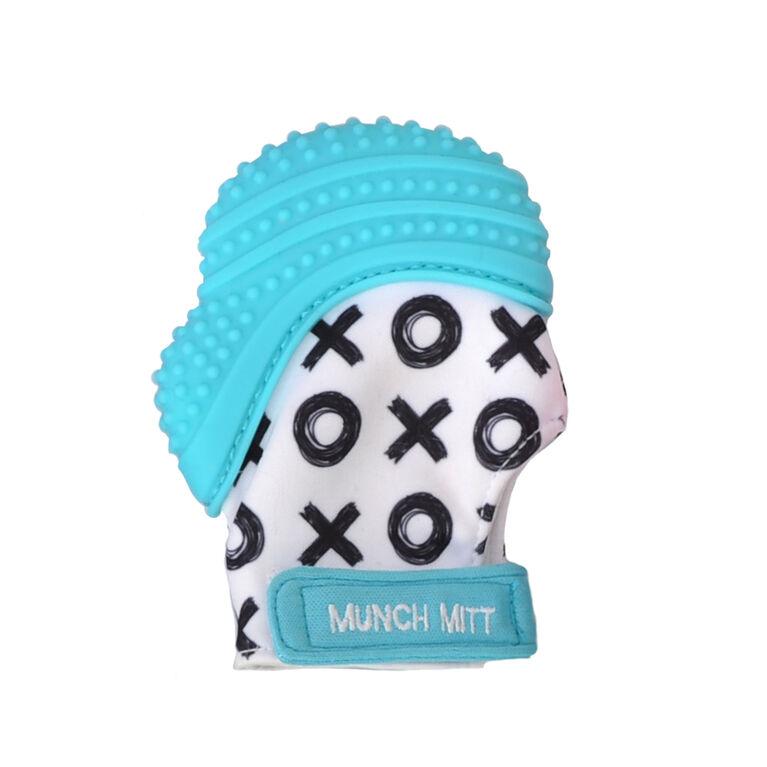 Munch Mitt - Aqua Blue XO's