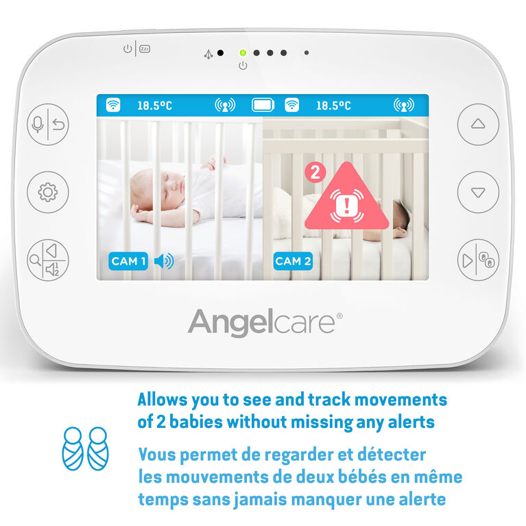 Angelcare AC327 Baby Breathing Monitor, with Video