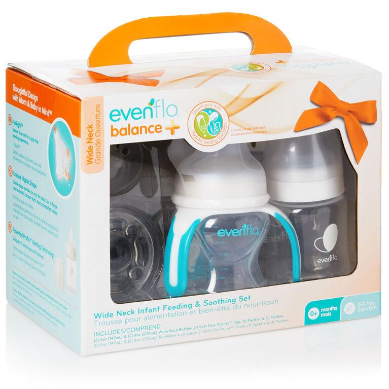 Evenflo Balance + Wide Neck Infant Feeding & Soothing Gift Set