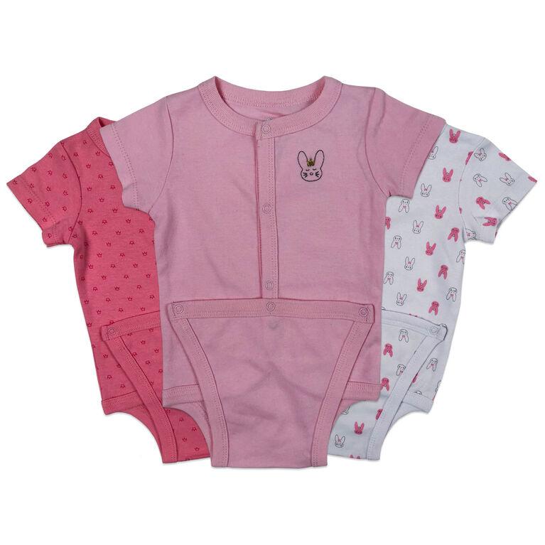 Koala Baby 3-Pack Diaper shirt - Pink, Preemie