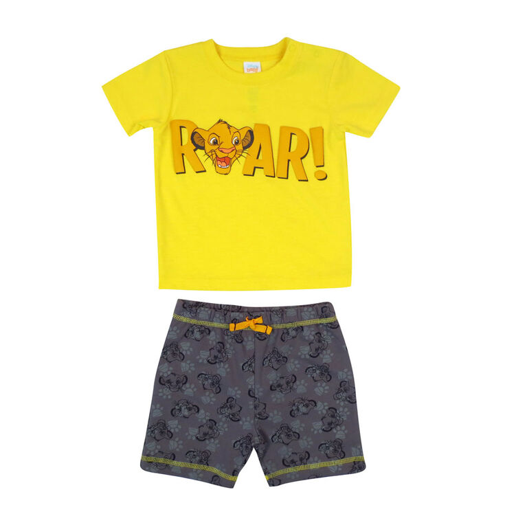 Disney Lion King  2-Piece Short Set - Yellow, 3 Months