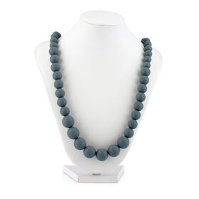 Collier de dentition a perles Teething Trends de Nuby - gris.