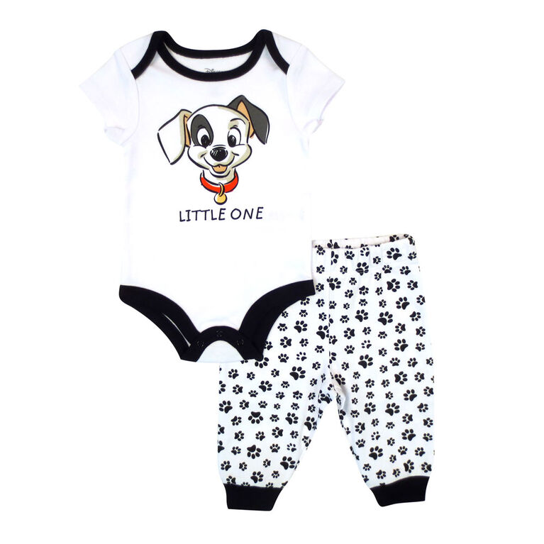 Disney Dalmations 2-Piece Bodysuit and Pant Set- White,  12 Months