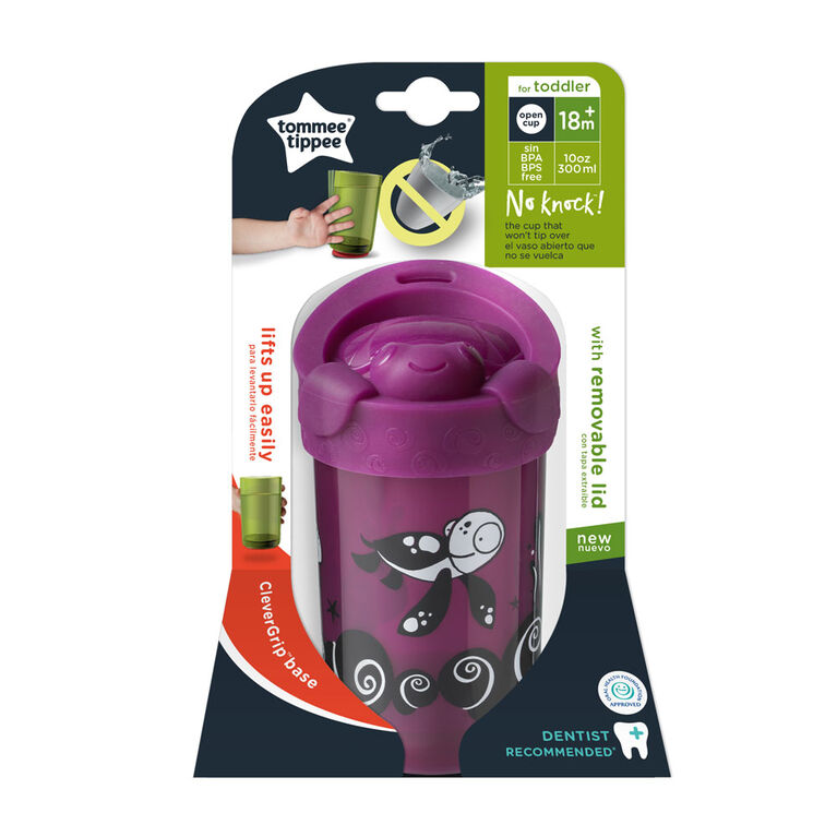 Tommee Tippee No Knock Toddler Cup with Lid, Turtle – 18+ months, 1 pack - English Edition