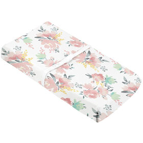 Change Pad Cover - Watercolour Flower