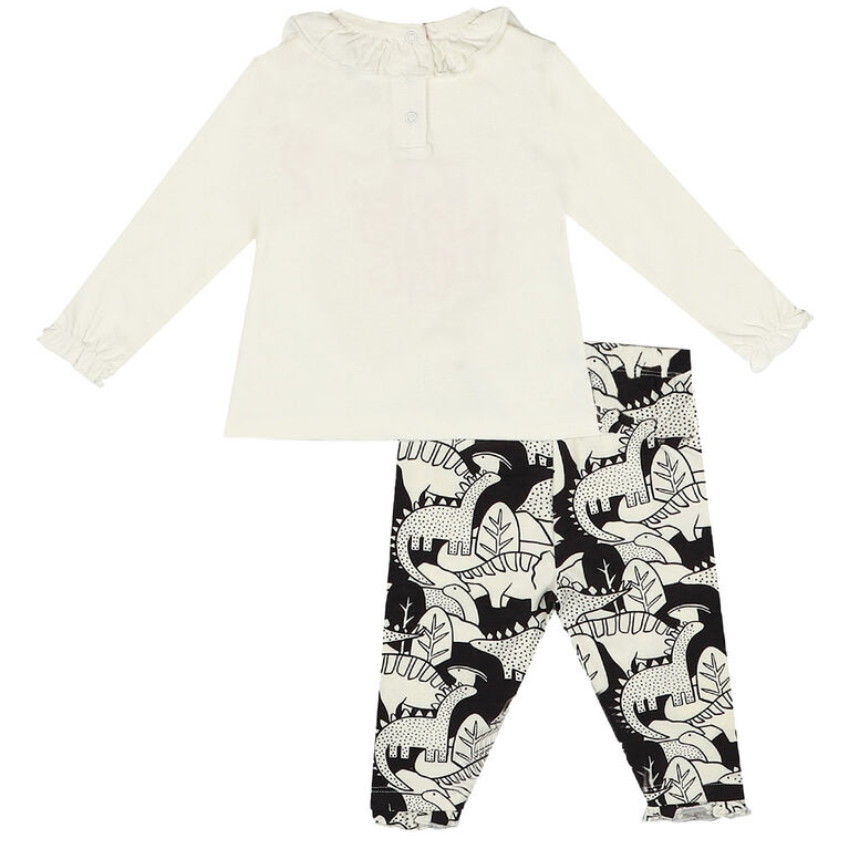 Earth by Art & Eden - Ensemble de 2 Leggings Hazel - Blanc, 12 mois