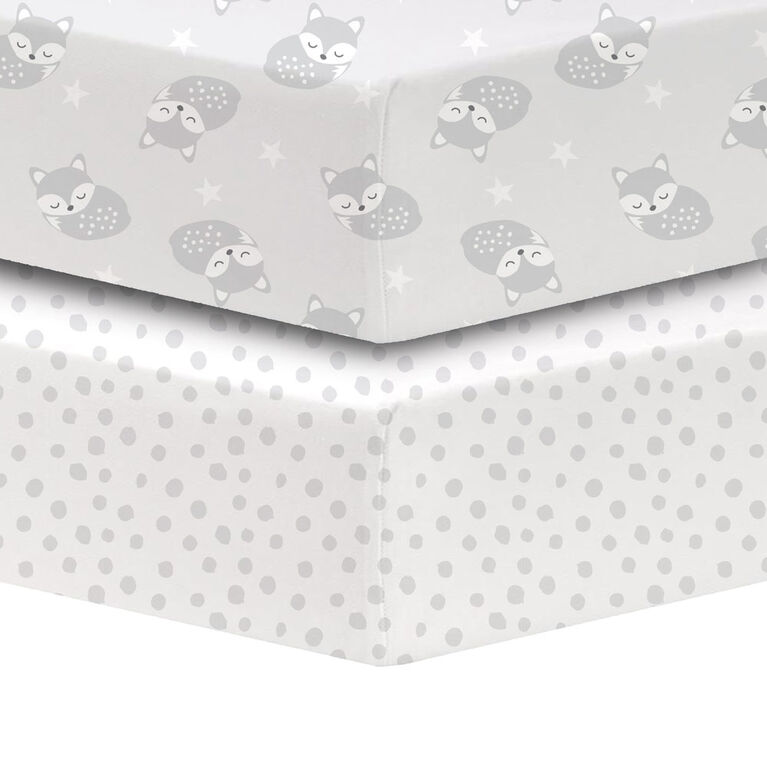 Koala Baby Cotton Percale Fitted Crib Sheet