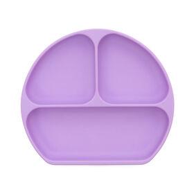 Bumkins Silicone Grip Dish, BPA Free - Lavender