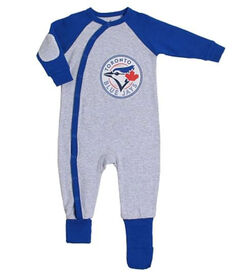 Snugabye Toronto Blue Jays Grey Infant Sleeper 18 Months