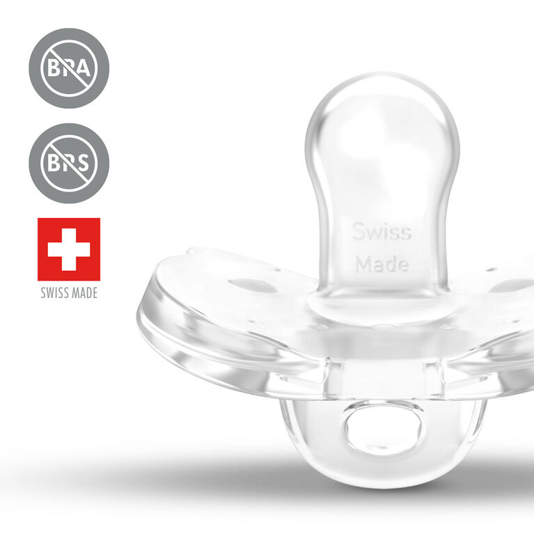 Medela Baby new SOFT SILICONE one-piece Pacifier designed to support baby's natural suckling, BPA free, Lightweight and orthodontic. 6-18 mo Girl