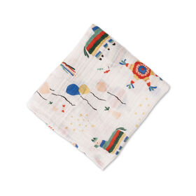 Red Rover - Cotton Muslin Swaddle Single - Party Time - R Exclusive