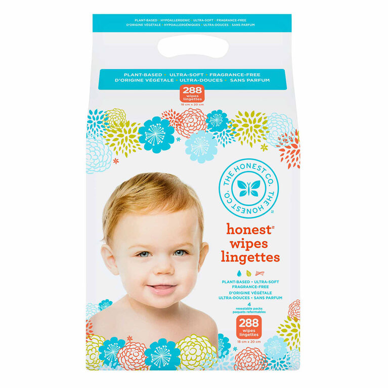 Honest Wipes 288 Pack