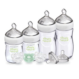 NUK Simply Natural Newborn Gift Set, 9 Piece, 0+ Months