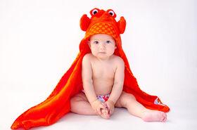 Serviette bébé Zoocchini - Charlie le Crabe.