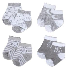 Chaussettes de Baby Essential gris neutre 4 paires 6-9M