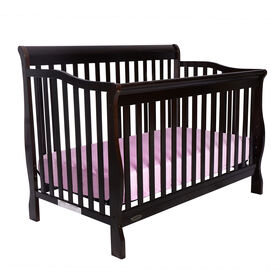 Kidiway Jessie 4-in-1 Convertible Crib - Brown
