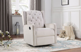 Lennox Furniture Capri Glider Recliner Swivel Off-White