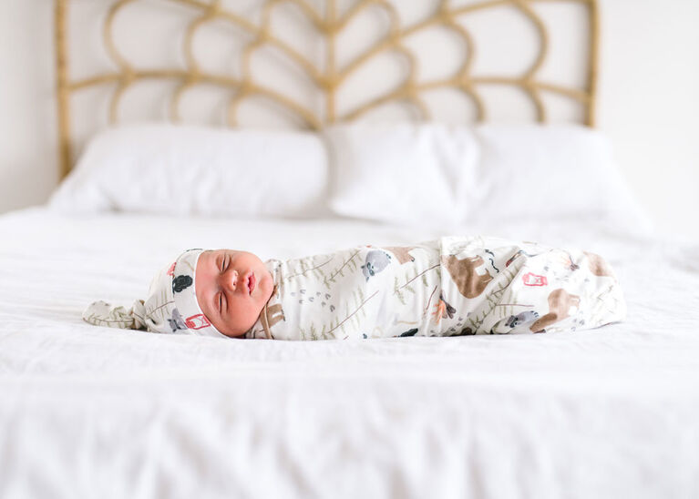 Copper Pearl Lumberjack Swaddle