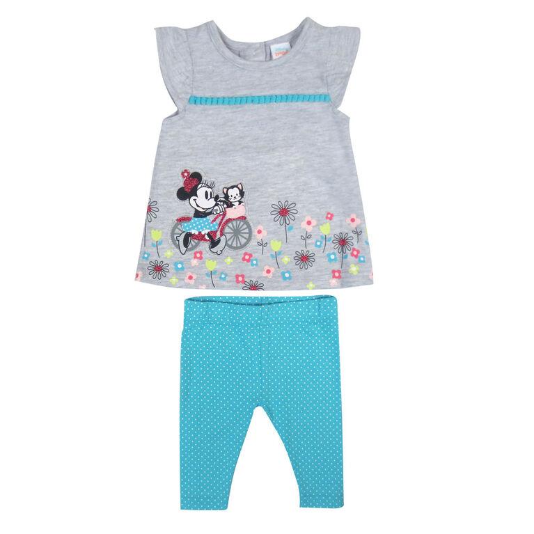 Disney Minnie Mouse ensemble legging 2 morceaux - Bleu, 6 mois