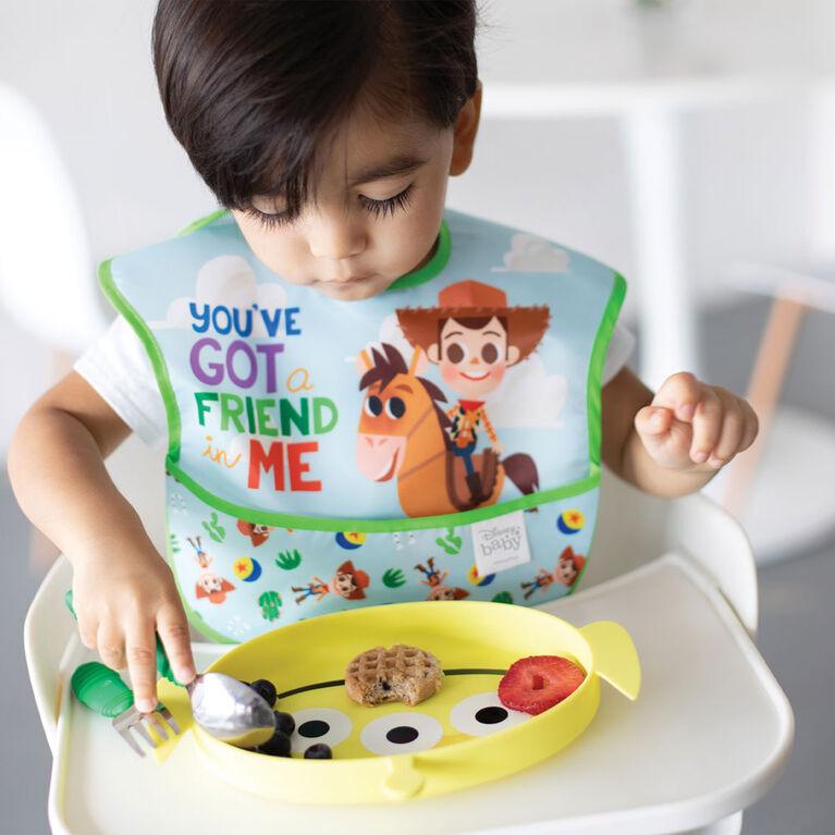 Bumkins Disney SuperBib, 6-24 mois, pack de 3 - Woody, Buzz, Toy Story