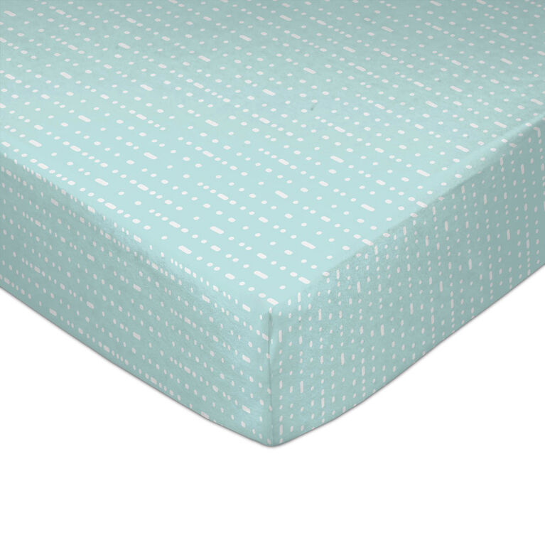 Lolli by Lolli Living Fitted Sheet - Mint Rocks
