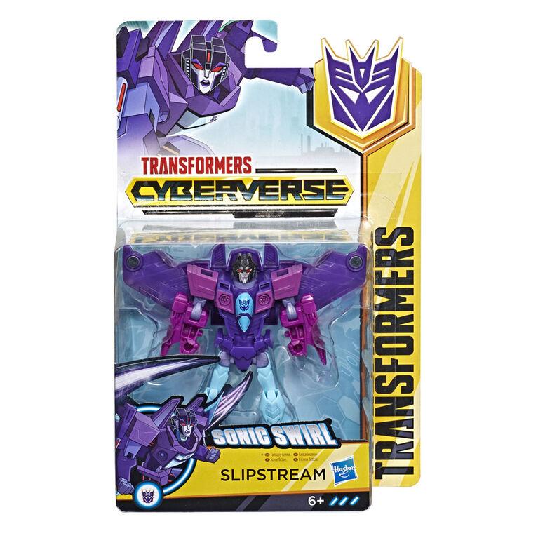 """Transformers Cyberverse classe guerrier, figurine Slipstream"". - Notre Exclusivité"