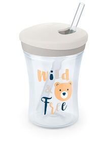 NUK Evolution Straw Cup 8 oz. - Clear