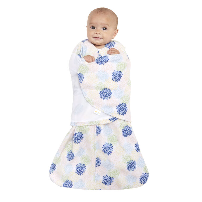 HALO SleepSack Swaddle - Microfleece - Apricot Starburst - Small