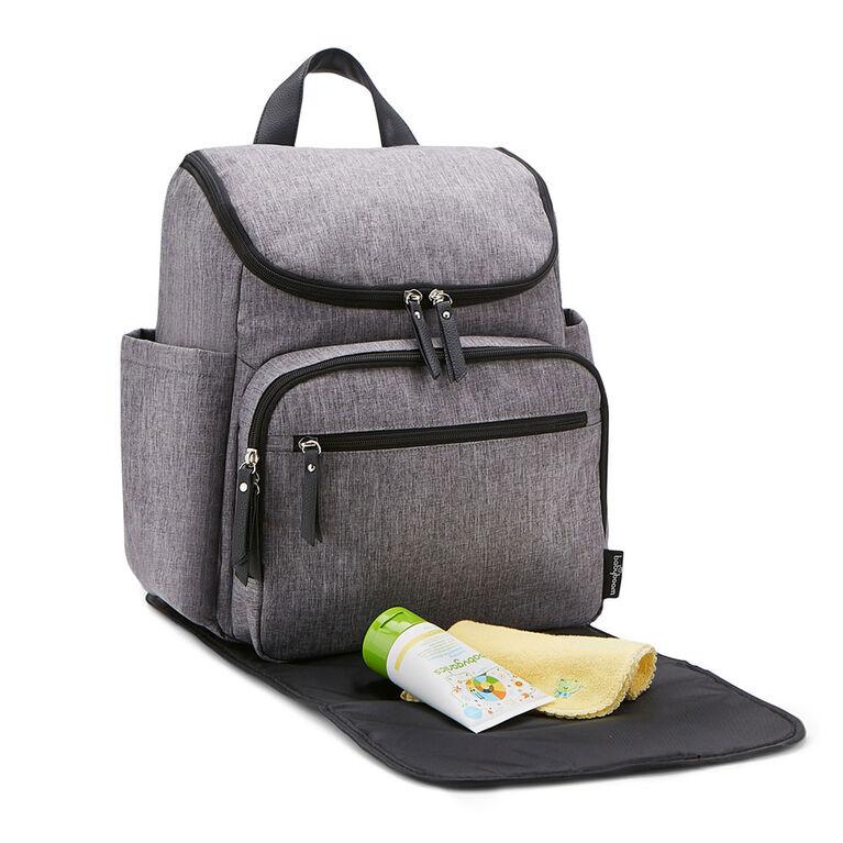 Baby Boom Shell Backpack Diaper Bag - Grey Crosshatch