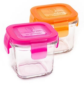 Wean Green Wean Cube, 2-Pack - Pink/Orange
