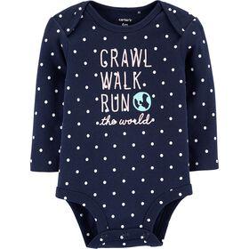 Cache-couche à collectionner Crawl Walk Run The World Carter's - marine, 12 mois.