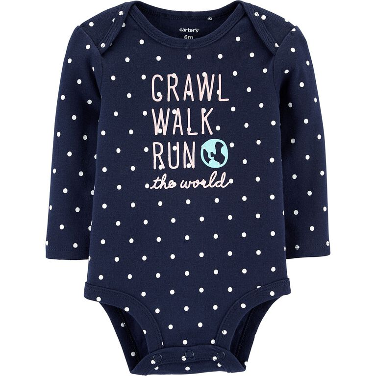 Cache-couche à collectionner Crawl Walk Run The World Carter's - marine, 12 mois.