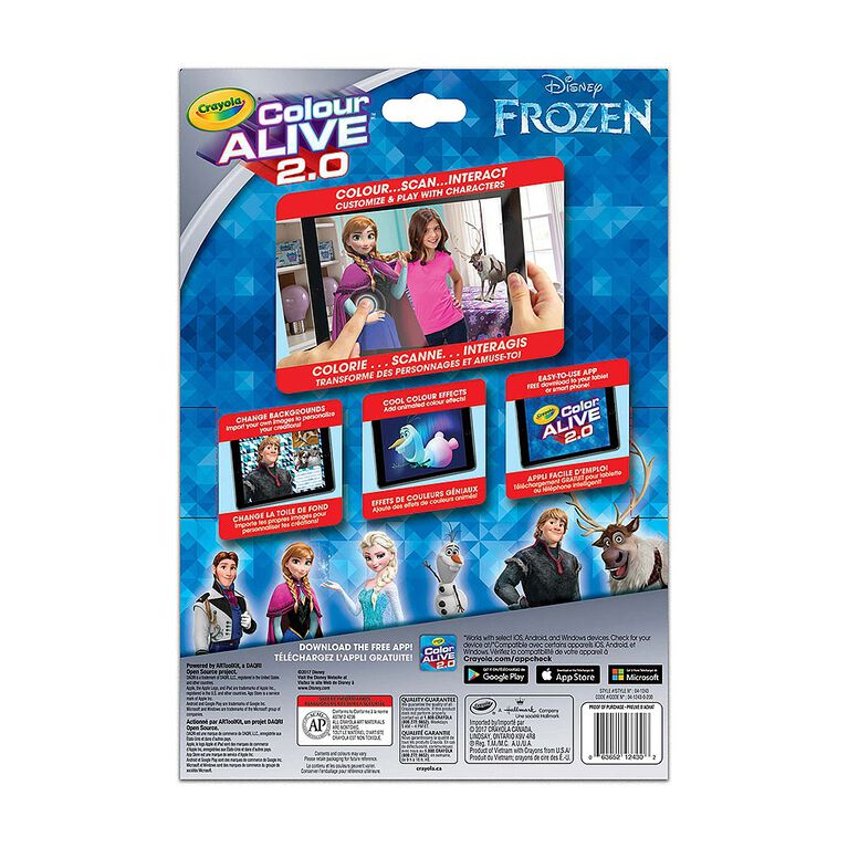 Colour AliveMC  2.0, Disney Frozen.