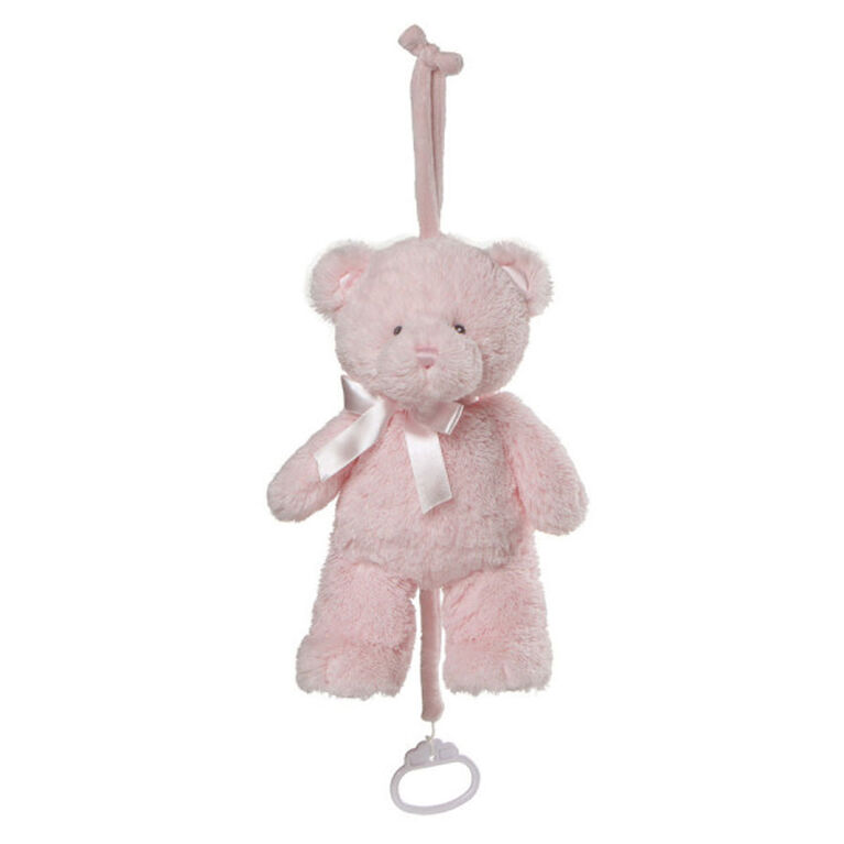 Baby GUND My First Teddy Musical Plush Stuffed Bear, Pink, 10 Inch