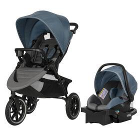 Evenflo Folio3 Stroll and Jog Travel System with LiteMax 35 Infant Car Seat Skyline