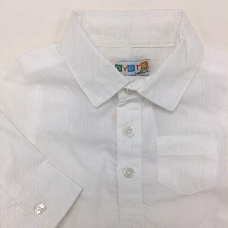 Coyote and Co. Cache-couche style chemise habillée à manches longues - Blanc - de 9 à 12 mois.