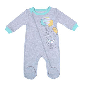 Disney Dumbo 1-Piece Sleeper - Grey,  3 Months